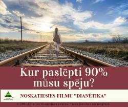 """Filma """"Dianētika"""". Ieeja bezmaksas. 14:00-15:00"""